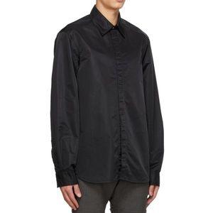 NWT   CORNERSTONE Black Nylon Shirt